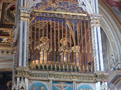 Canopy of San Giovanni where the  heads of Peter & Paul are preserved
